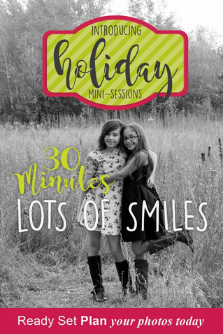 Book now, Holiday Photo Mini-Session