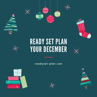 Ready Set Plan Your December