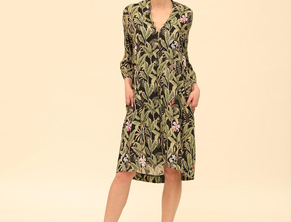 Schalkragenkleid Jungle
