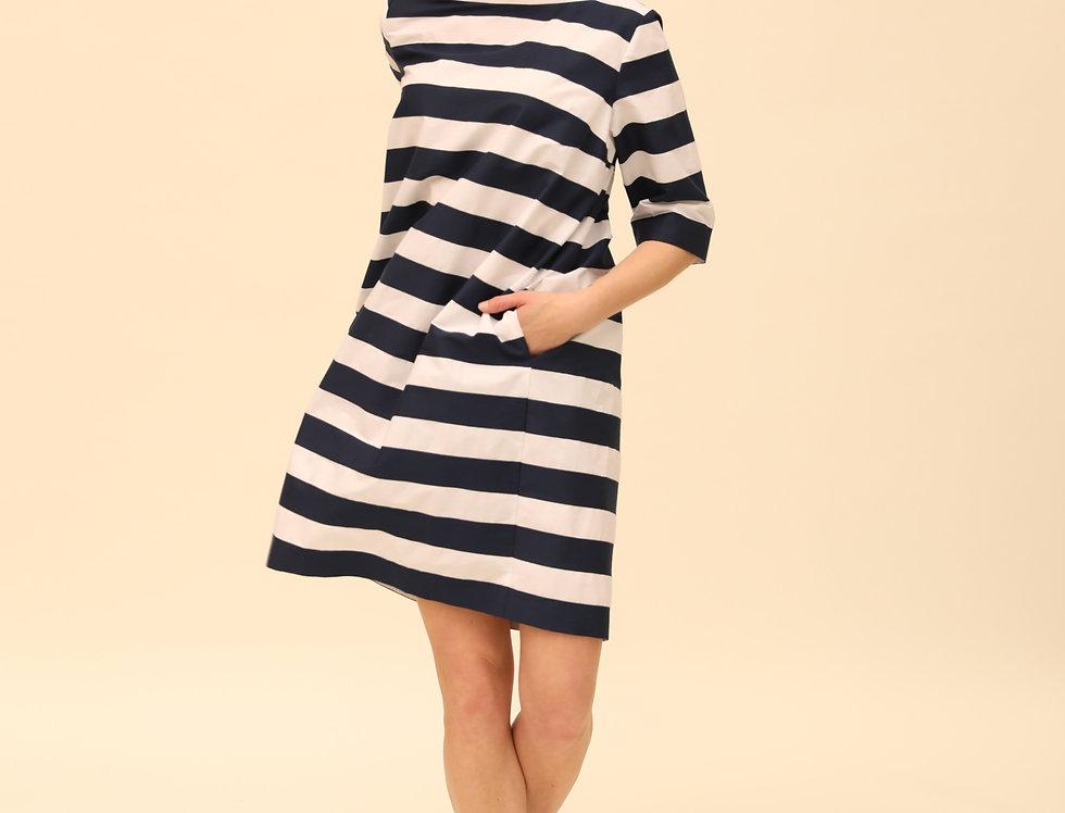 Kleid Bretonne bleu