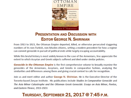 Genocide in the Ottoman Empire: A Book Discussion at St. Leon Armenian Church