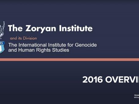 Zoryan Institute & IIGHRS 2016 Overview