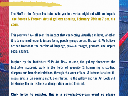 The Forces and Factors Virtual Gallery Launch (Event)