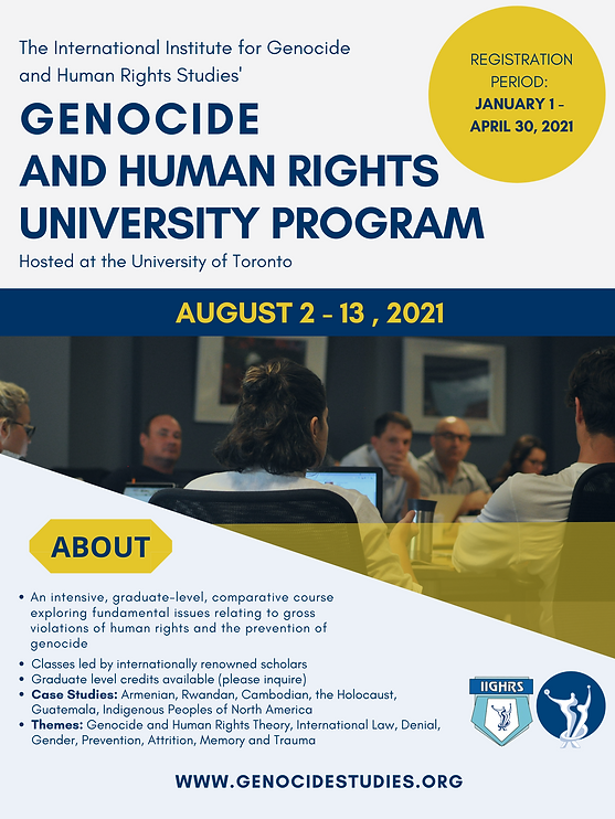 Genocide and Human Rights University Pro