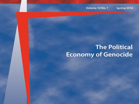 New Edition of Genocide Studies International (GSI) 10.1: The Political Economy of Genocide
