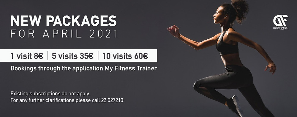 Destination Fitness New Packages for April 2021