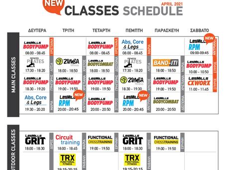 Destination Fitness Classes Program April 2021