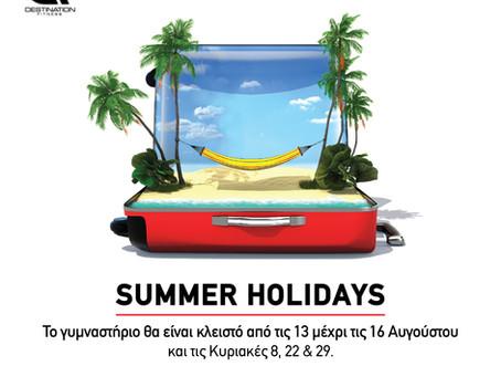 Summer Holidays!