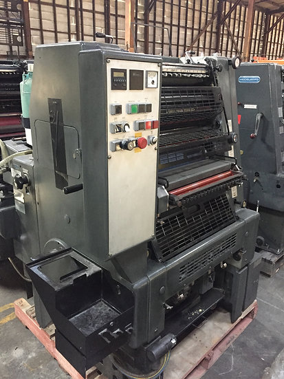 HEIDELBERG GTO 52 NP with numbering S/N 709 304  36 Mil side panel machine