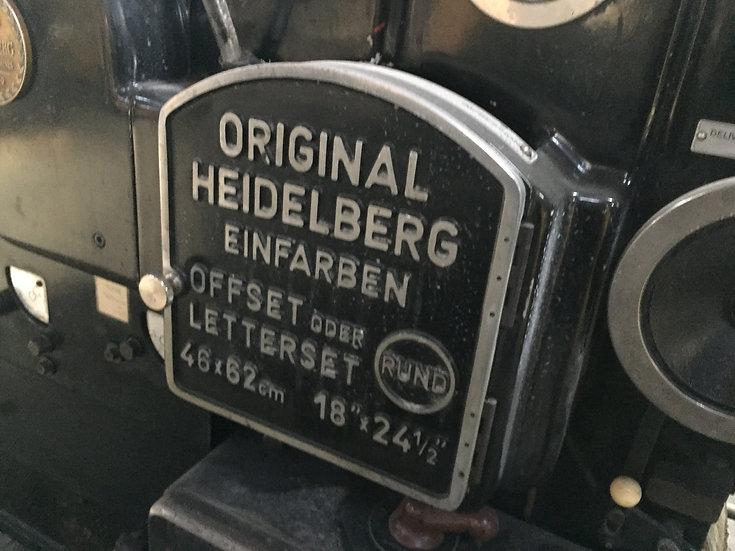 HEIDELBERG KORD 62 Black (Short box) S/N 318 980