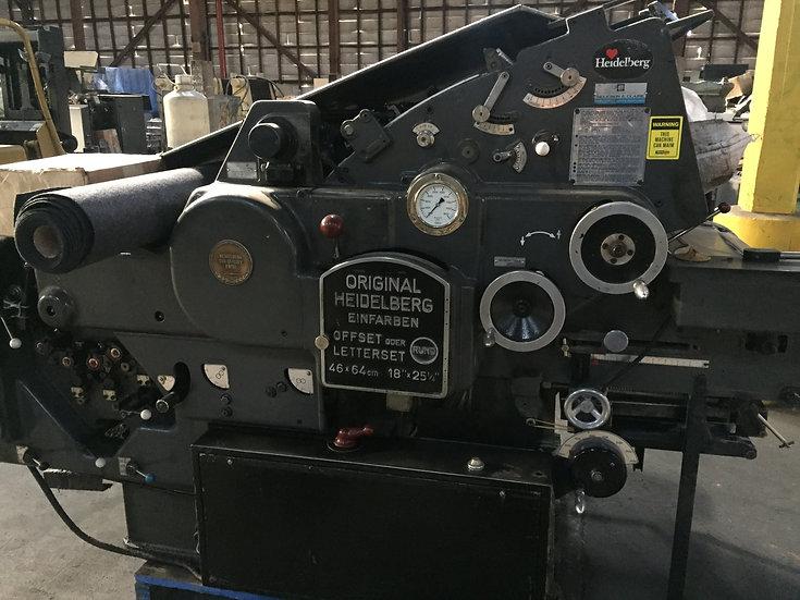 HEIDELBERG KORD 64 Grey  S/N 350 117  Black control panel