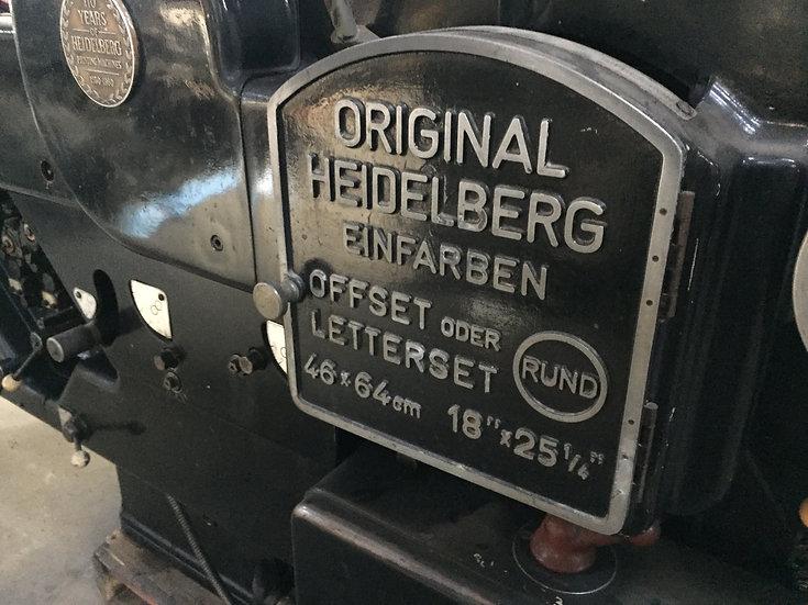 HEIDELBERG KORD 64 Black (Short box) S/N 327 939