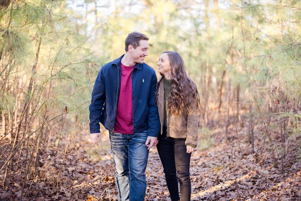 Engagement photography at Craighead Forest in Jonesboro, Arkansas in January, Wedding Photography, Arkansas Engagement Photographer