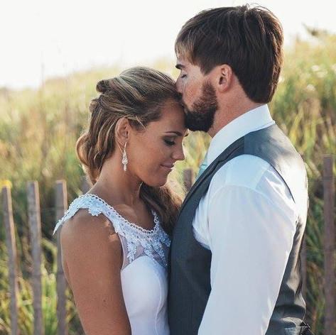 Wedding makeup Block Island Rhode Island done by makeup artist Jennifer Dupre Artistry