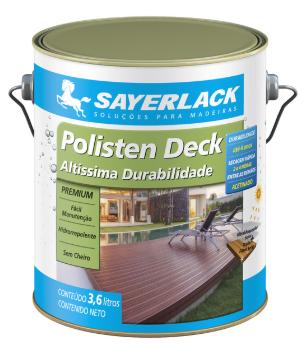 Stain Polisten Deck Base Água Castanho 3,6L Sayerlack