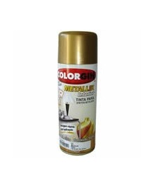 Colorgin Spray Dourado 350ml - Metallik