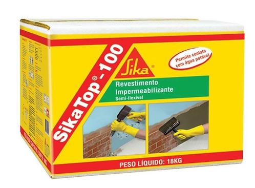 Impermeabilizante Sika Top 107 Cinza Argamassa Aditivo 18Kg Sika