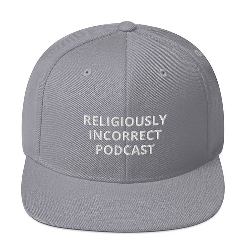 Religiously Incorrect Podcast Snapback Silver