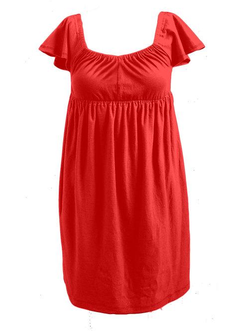 EMPIRE CAPSLEEVE SINGLET DRESS
