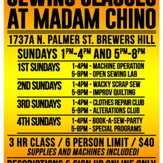 MADAM CHINO CLASSES