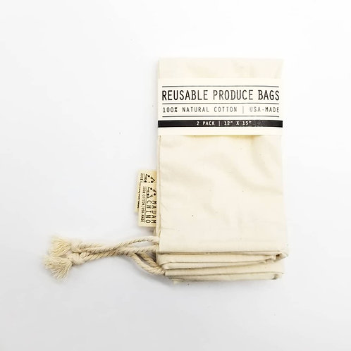REUSABLE PRODUCE BAGS | 2 pack