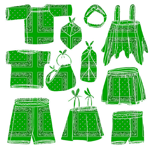 DO-RAG DUDS! - BANDANA CLOTHES AND FUROSHIKI/ BOJAGI - 1 WEEK!