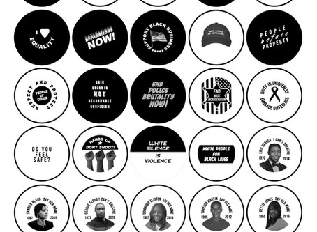 BLACK LIVES MATTER CIVIL RIGHTS PIN BACK BUTTONS