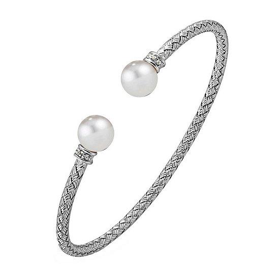 Silver Pearl Cuff