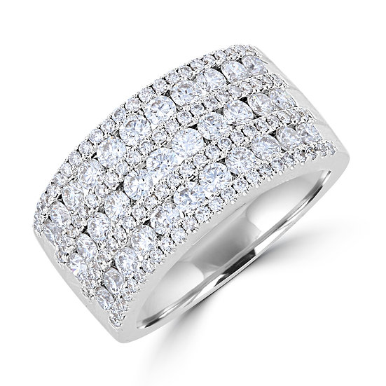 7 Row Diamond Band