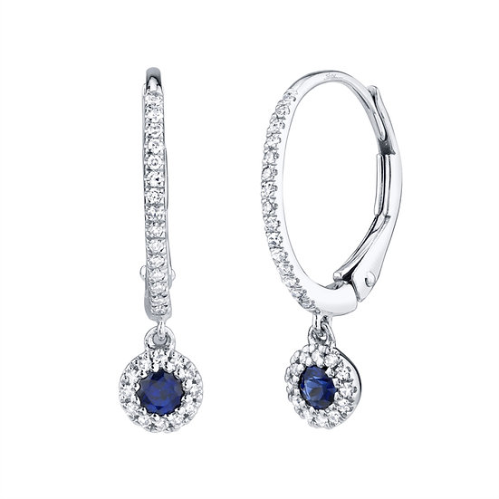 Diamond and Saphire Dangle