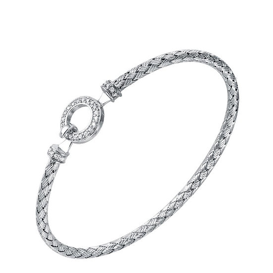 Silver Circle Link Cuff