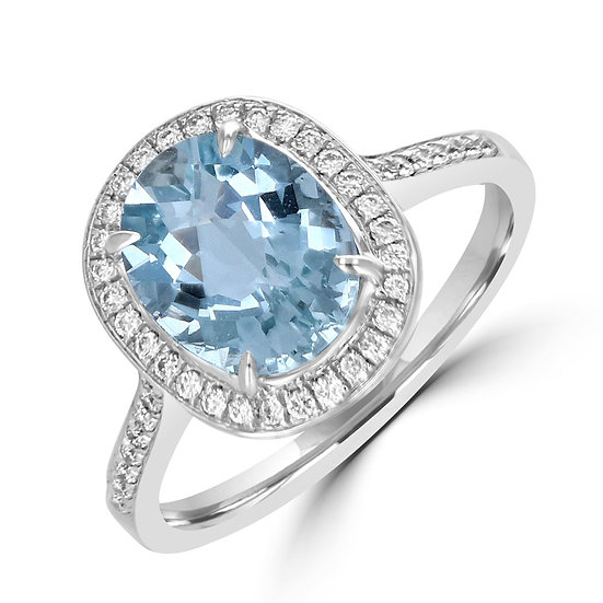 Oval Aquamarine Diamond