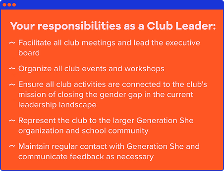 Your responsibilities as a club leader.p