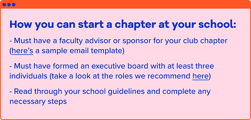 How you can start a HSC chapter at your
