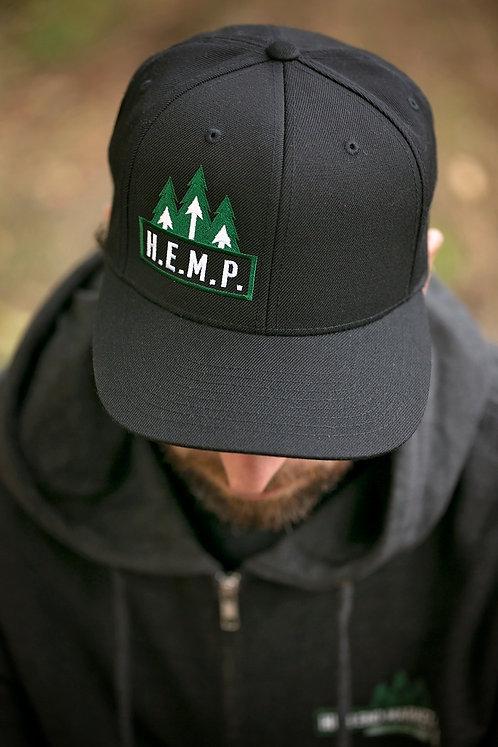 H.E.M.P. Black Snapback