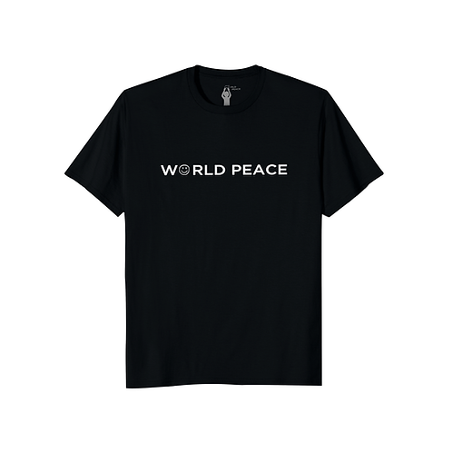WORLD PEACE BLOCK ACROSS CHEST T-SHIRT