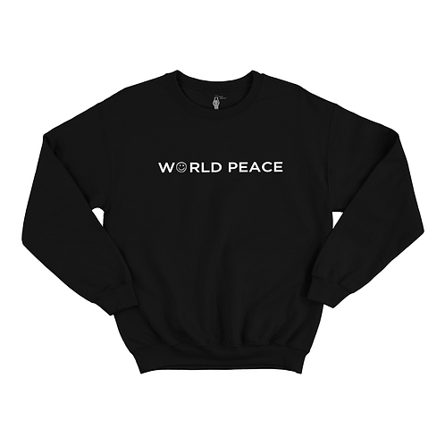 WORLD PEACE BLOCK ACROSS CHEST SWEATER