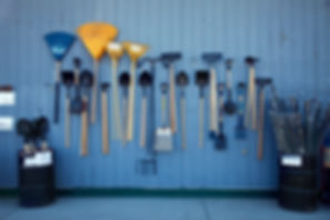 Organizing Edmonton | hanging garden tools