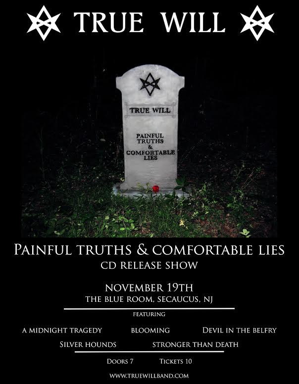 "Debut album, ""Painful Truths & Comfortable Lies"", release show November 19th"