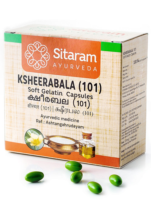 Sitaram Ksheerabala 101 Soft Gelatin Capsules 100Nos