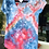 Thumbnail: Ladies XS Merona Scoop neck T-Shirt, Ice Dyed Red, White and Blue