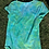 Thumbnail: Rouched Blue/Green scoop-neck Tee