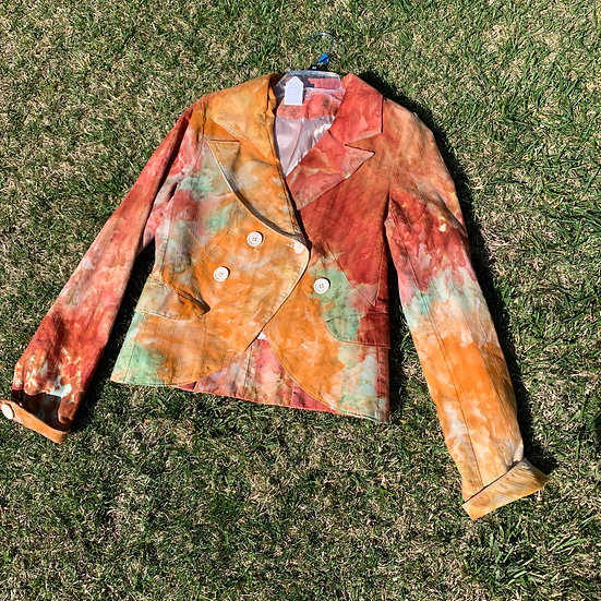 Double Button funky style multicolor jacket