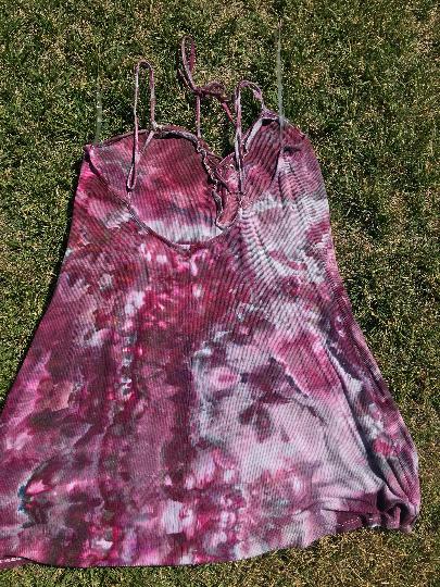 Sexy Lace up plum dress