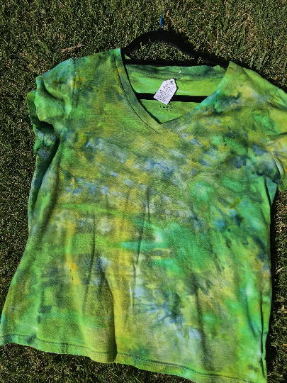 Upcycled Spring Green Tee