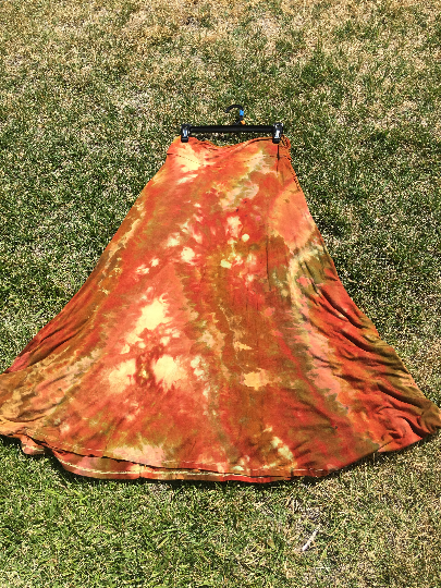 Autumn color Floor length Jersey skirt