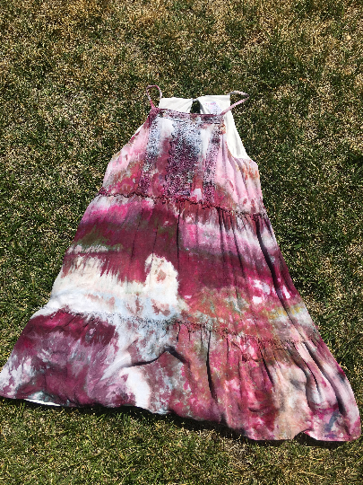 Purple & Lace Ice Dye dress