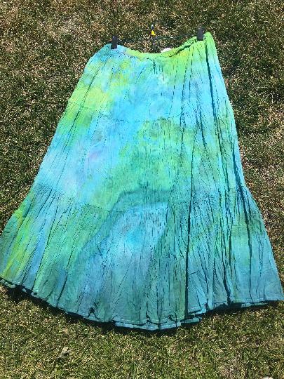 Mermaid/Boho Crinkle Skirt(M)
