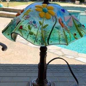 Whimsical flowers lamp