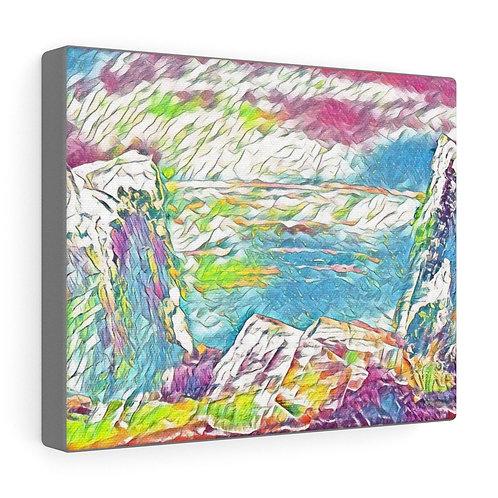 Atlantis Rising Abstract Artwork Canvas Gallery Wrap Home Decor Wall Decor